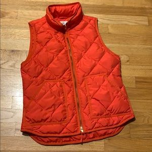 J. Crew Excursion Quilted Red/Orange Vest